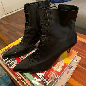 Zara faux leather boots size 40